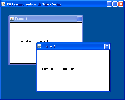AWT component with Native Swing