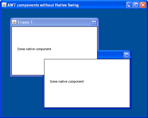 AWT Component without Native Swing